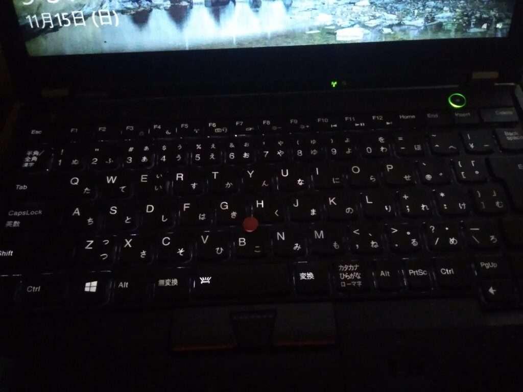 x230バックライト付キーボード